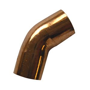 """Copper 45° Elbow 1/4""""O.D. (1/8"""" I.D.)"""