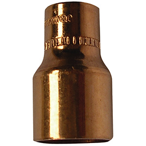 "Copper Reducer 1/2"" x 3/8"" O.D. (3/8"" x 1/4"" I.D. Nom)"