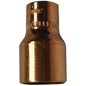 """Copper Reducer 1/2"""" x 3/8"""" O.D. (3/8"""" x 1/4"""" I.D. Nom)"""