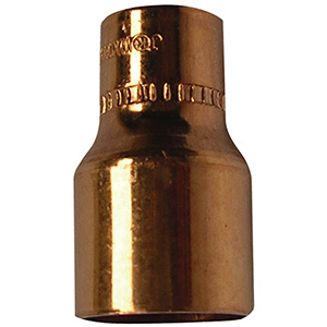 "Copper Reducer 3/8"" x 1/4"" O.D. (1/4"" x 1/8"" I.D. Nom)"