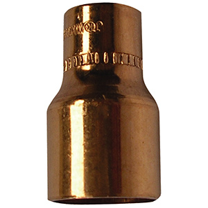 "Copper Reducer 3/4"" x 1/2"" O.D. (5/8"" x 3/8"" I.D. Nom)"