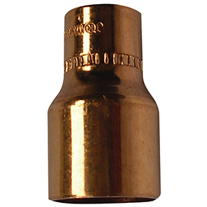 "Copper Reducer 3/4"" x 5/8"" O.D. (5/8"" x 1/2"" I.D. Nom)"