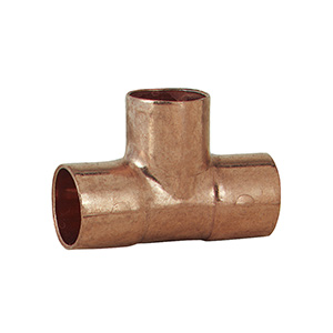 """Copper Tee 3/4"""" O.D. (5/8"""" I.D.)"""