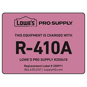 R-410A Refrigerant ID Labels