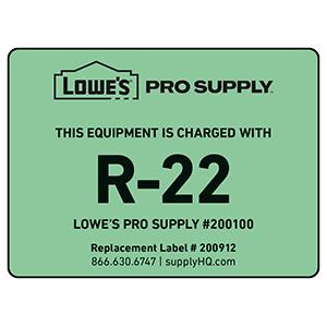 R-22 Refrigerant ID Labels