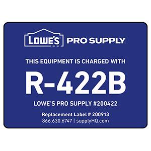 R-422B (NU22B) Refrigerant ID Labels