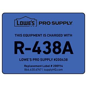 R-438A (MO99) Refrigerant ID Labels