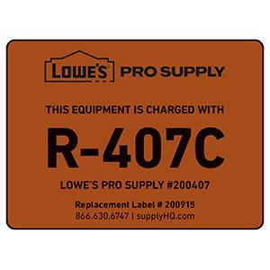 R-407C Refrigerant ID Labels
