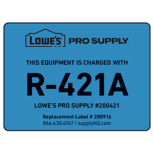 R-421A Refrigerant ID Labels