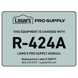 R-424A (RS-44b) Refrigerant ID Labels