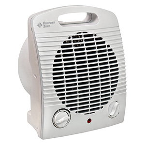 Compact Heater/Fan w/Safety Tip-Over Switch