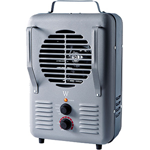 Fan-Forced Heater with Adjustable Thermostat