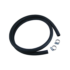 Universal Drain Hose 6ft Black Rubber