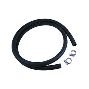 Universal Drain Hose 6ft Black Rubber