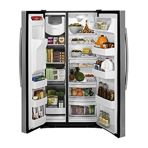 GE Stainless 25.3 Cu Ft Side-by-Side Refrigerator
