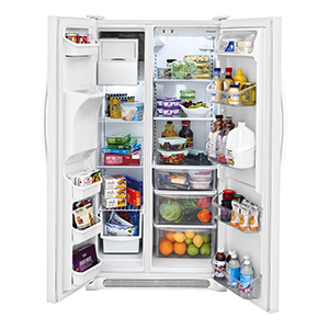 Frigidaire Pearl White 22.1 Cu Ft Side-by-Side Refrigerator