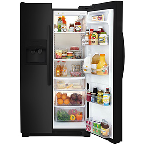 Frigidaire Ebony Black 22.1 Cu Ft Side-by-Side Refrigerator