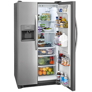 Frigidaire Stainless 22.1 Cu Ft Side-by-Side Refrigerator