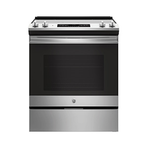 GE Stainless 5.3 cu ft Slide- in Electric Range