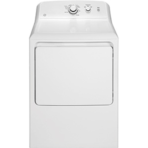 GE White 7.2 cu ft Electric Dryer