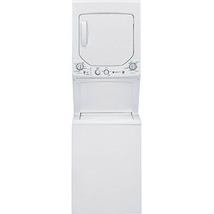 """GE White 24"""" Unitized Spacemaker Washer and Electric Dryer"""
