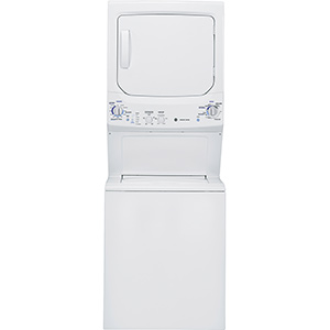 """GE White 27"""" Unitized Spacemaker Washer and Electric Dryer"""