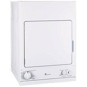 GE White Spacemaker Electric Dryer
