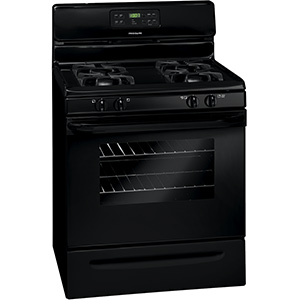 "Frigidaire Black 5.0 cu ft 30"" Self-Cleaning Gas Range"