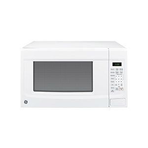 GE White 1.4 cu ft Countertop Microwave