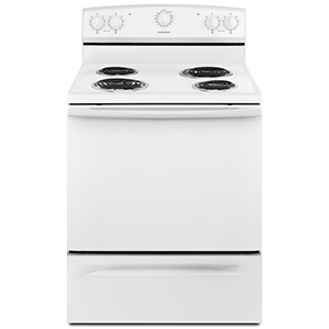 "Amana White 30"" Electric Range"