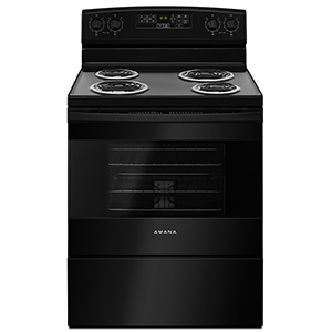 Amana Black 4.8 cu ft Self Cleaning Electric Range