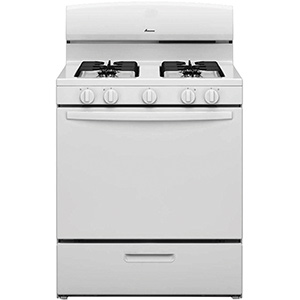 Amana White 5.1 cu ft Gas Range