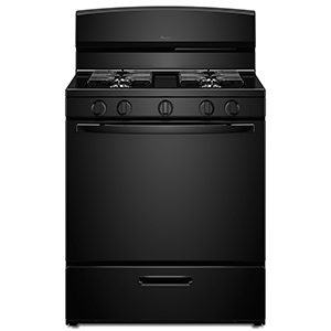 Amana Black 5.1 cu ft Gas Range