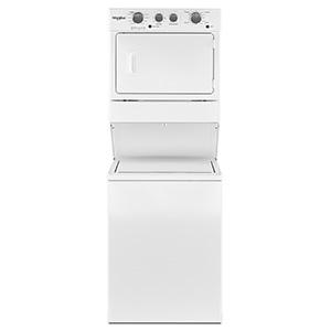 "Whirlpool White 27"" Stack Washer/Dryer"