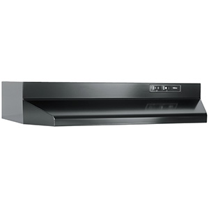 "24"" Black Convertible Range Hood"