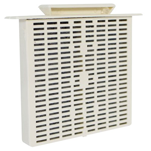Bath Exhaust Fan Grille Beige Refillable Filter