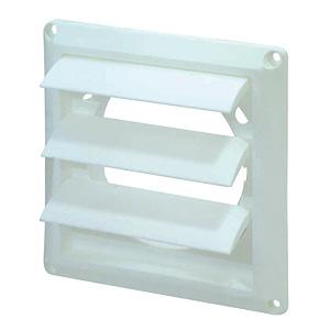 White Plastic Louvered Dryer Vent Hood