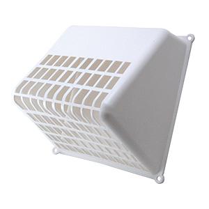 White Plastic Bird Guard Dryer Vent Hood