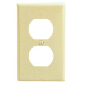 Leviton 1-Gang Duplex Receptacle Wall Plate Ivory