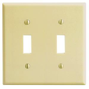 Leviton 2-Gang Switch Wall Plate Ivory