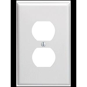Leviton 1-Gang Duplex Receptacle Wall Plate White
