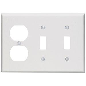 Leviton 3-Gang Combo Wall Plate White