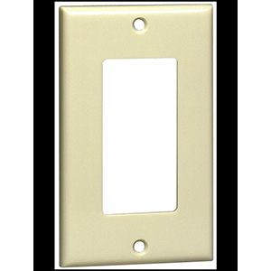 Leviton 1-Gang Deco Wall Plate Ivory