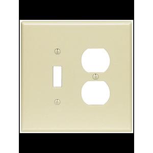 Leviton 2-Gang Combo Wall Plate Ivory
