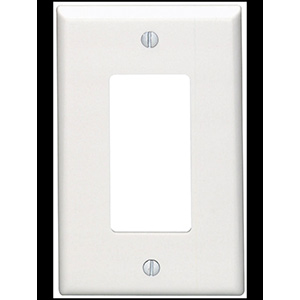 Leviton 1-Gang Deco Wall Plate White