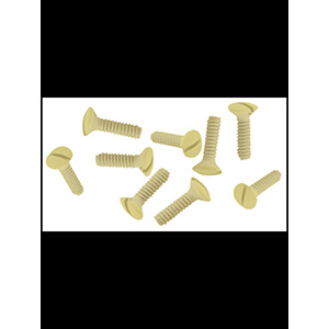 Metal Wall Plate Screws Ivory Box of 100