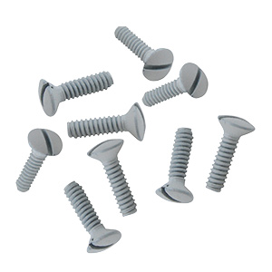 Metal Wall Plate Screws White Box of 100