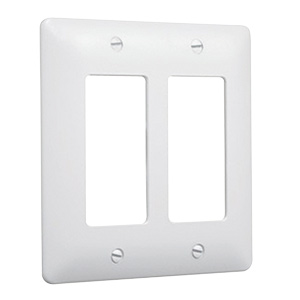 Masque 5000 Series Decorator Wall Plate White 5500W 2-Gang