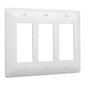 Masque 5000 Series Decorator Wall Plate White 5550W 3-Gang