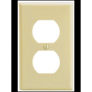 Leviton Nylon 1-Gang Receptacle Wall Plate Ivory